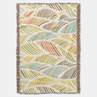 Abstract Earth Tone Wave Pattern Throw Blanket