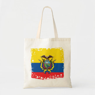 Abstract Ecuador Flag, Republic of Ecuador Bag