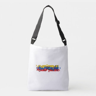 Abstract Ecuador Flag, Republic of Ecuador Colors Crossbody Bag