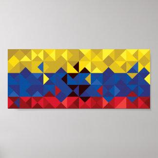 Abstract Ecuador Flag, Republic of Ecuador Poster