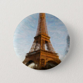 abstract eiffel tower 2 inch round button
