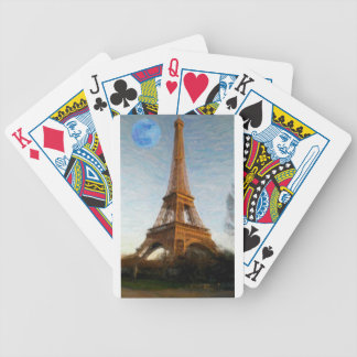 abstract eiffel tower bicycle playing cards