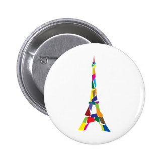 Abstract Eiffel Tower, France, Paris 2 Inch Round Button