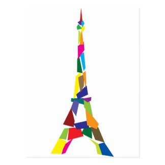 Abstract Eiffel Tower, France, Paris Postcard
