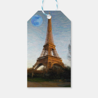 abstract eiffel tower gift tags