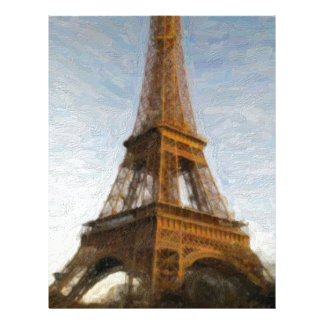 abstract eiffel tower letterhead