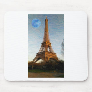 abstract eiffel tower mouse pad