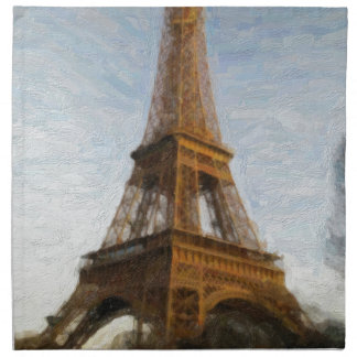 abstract eiffel tower napkin