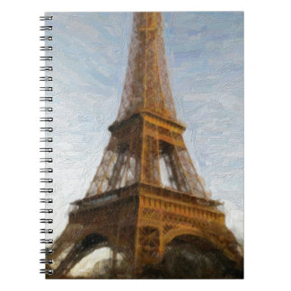 abstract eiffel tower notebook