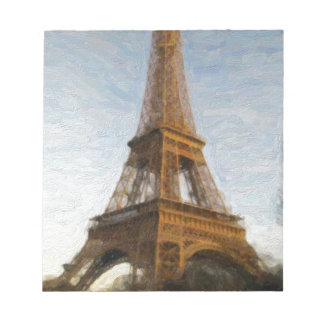 abstract eiffel tower notepad