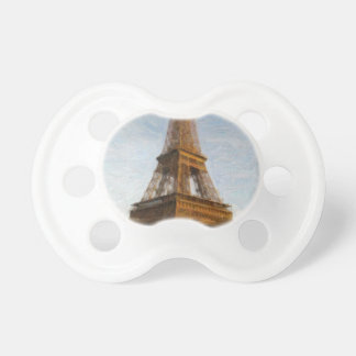 abstract eiffel tower pacifier