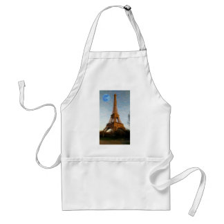 abstract eiffel tower standard apron
