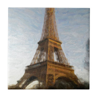 abstract eiffel tower tile