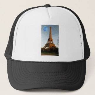 abstract eiffel tower trucker hat