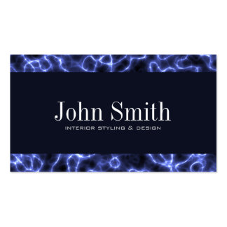 Abstract Electric Blue Business Card