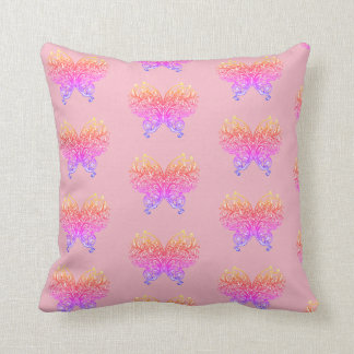 Abstract Electric Butterfly Insect Bug Pink Pillow