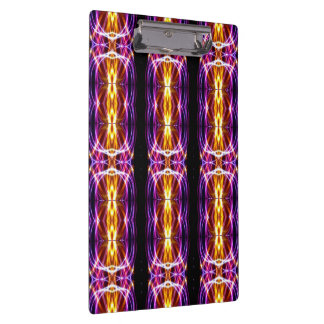 Abstract Electric Lights Clipboard