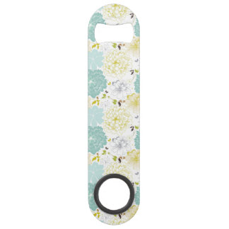 Abstract Elegance floral pattern Speed Bottle Opener