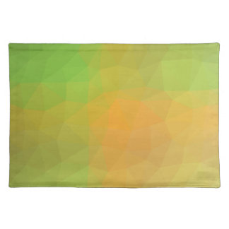 Abstract & Elegant Geo Designs - Cantalope Soft Placemat