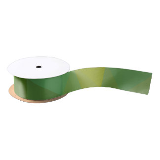 Abstract & Elegant Geo Designs - Garden Patch Satin Ribbon