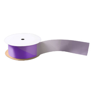 Abstract & Elegant Geo Designs - Iris Field Satin Ribbon
