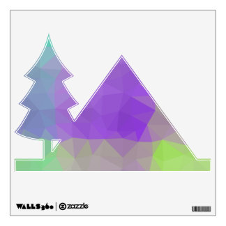 Abstract & Elegant Geo Designs - Iris Field Wall Decal