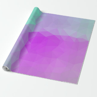 Abstract & Elegant Geo Designs - Magenta Sky Wrapping Paper