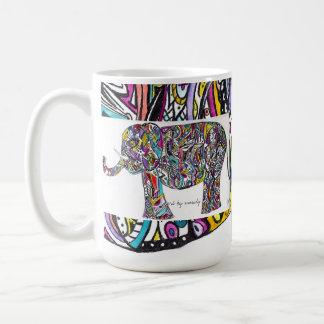 abstract elephant coffee mug