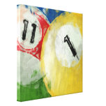 Abstract Eleven and One Ball Billiards Canvas Print