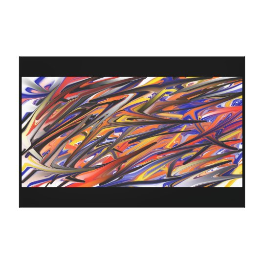 ABSTRACT ENERGETIC CANVAS PRINT