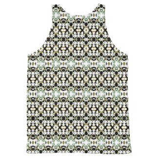 Abstract Ethnic Camouflage All-Over-Print Tank Top
