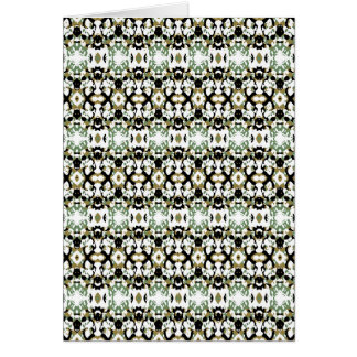 Abstract Ethnic Camouflage Card