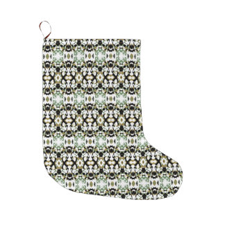 Abstract Ethnic Camouflage Large Christmas Stocking