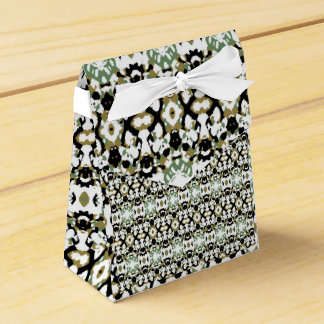 Abstract Ethnic Camouflage Party Favor Boxes