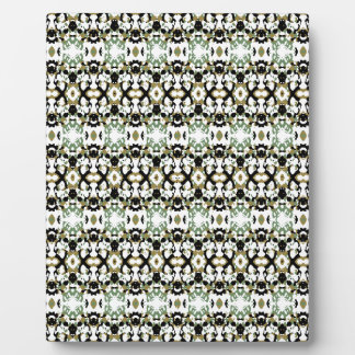 Abstract Ethnic Camouflage Plaque