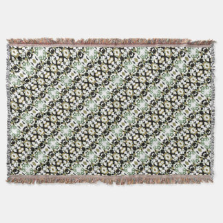 Abstract Ethnic Camouflage Throw Blanket