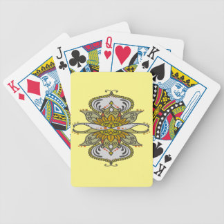 abstract ethnic flower bicycle playing cards
