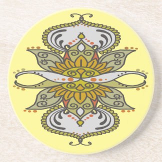 abstract ethnic flower coaster