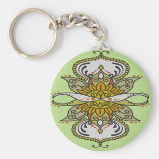 abstract ethnic flower keychain