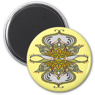 abstract ethnic flower magnet