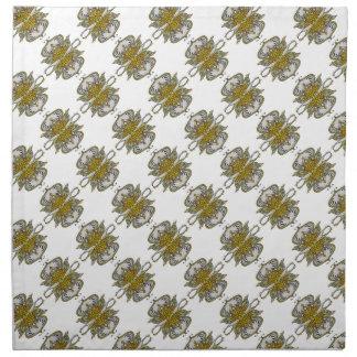 abstract ethnic flower napkin