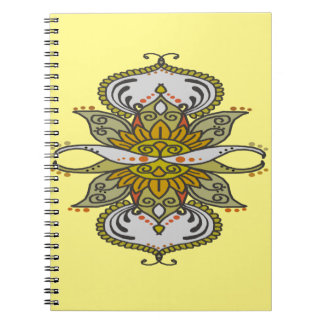 abstract ethnic flower notebook