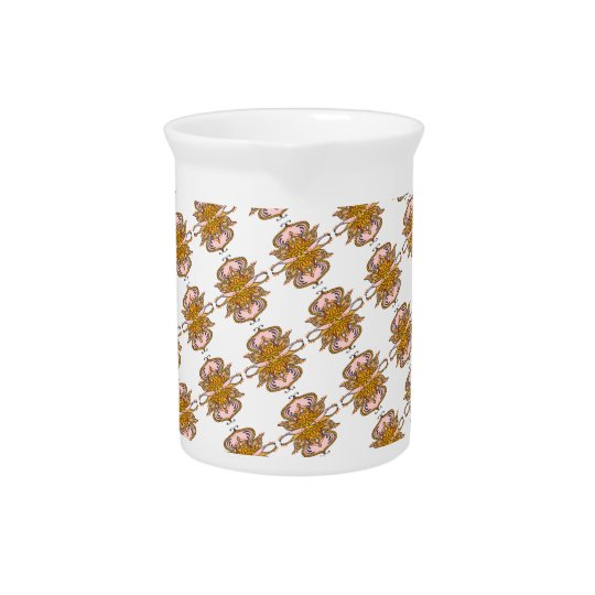 abstract ethnic flower pitcher