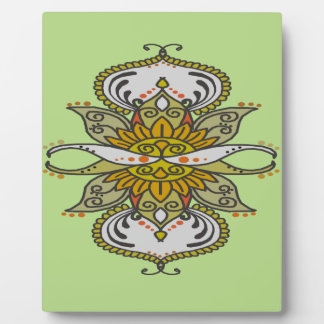 abstract ethnic flower plaque