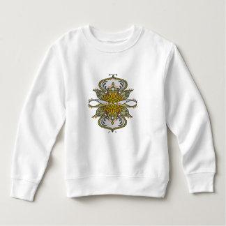 abstract ethnic flower sweatshirt