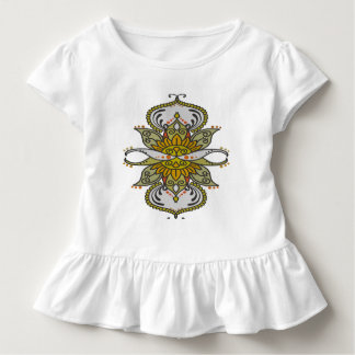 abstract ethnic flower toddler t-shirt