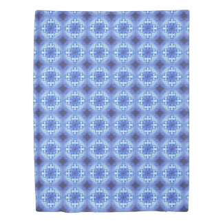 Abstract ethnic geometric blue pattern duvet cover
