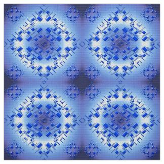 abstract ethnic   geometric  blue pattern. fabric
