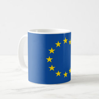 Abstract European Flag, Europe Poly Art Mug