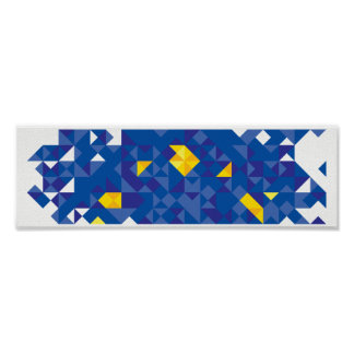 Abstract European Flag, Europe Poly Art Poster